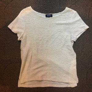 A. P. C. - crepe short sleeve blouse